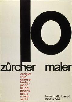 02-0768 #maler #swiss #emil #zuecher #poster #ruder #type