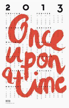 studio patten 2013 #2013 #calendar #typography