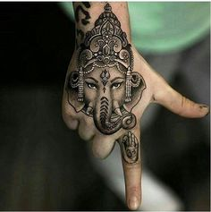 Indian lucky charm on the hand