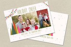 christmas card template #inspiration #creative #design #holiday #cards