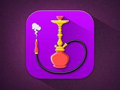 Hookah #flat #hookah #smoke #icon #app #ios