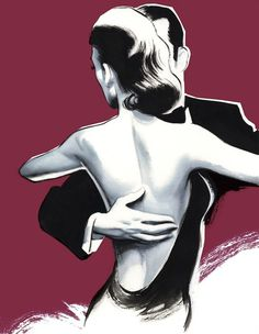 Glamour´s Days Gentleman Magazine Spain on Behance #formal #illustration #dance