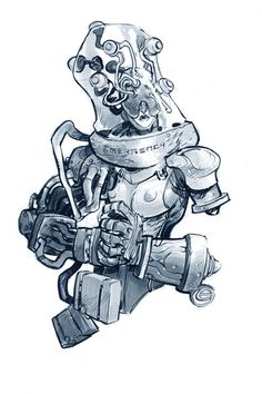 EMERGENCY by EricCanete on deviantART #robot #design #fi #sci #space #illustration #art #cyborg #suit #drawing