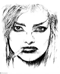 Nina Hagen on Dropula - The inspirational catalogue #nina #hagen #illustration #face