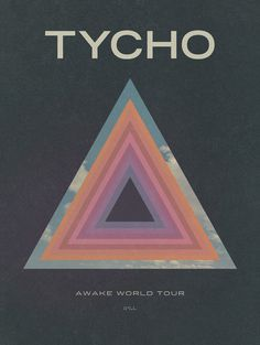 Awake World Tour Poster (Lithograph) #tycho #awake #iso50 #poster #tour