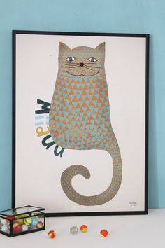 #nordic #design #graphic #illustration #danish #bright #simple #nordicliving #living #interior #kids #room #poster #cat #miiauu