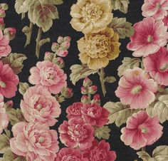 A beautiful textile of floral design #pattern #pink #floral #russian #textile