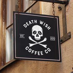 Seath Wish Coffee Co rebrand #Coffee #branding #packaging #skulls