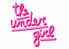 The Under Girl #calligraphy #red #girl #pink #tipography #logo #type