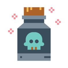 See more icon inspiration related to toxic, poison, healthcare and medical, risk, container, skull and danger on Flaticon.