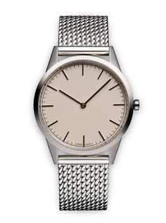 Polished steel / Polished Milanese mesh #uniform #wares #watch