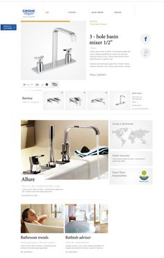 GROHE / Enjoy Water on Behance #layout #design #web #webdesign