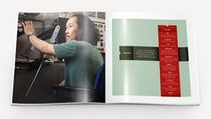 This Is Work | P. Eggleston #white #minnesota #eggleston #teal #brochure