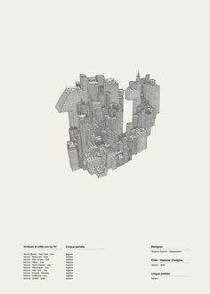 Alphaposter | Happycentro #letter #building