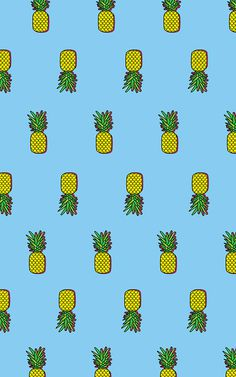 Pineapples #print #retro #icons #pineapple #tropical #vibes #spatter