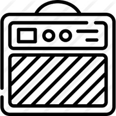 See more icon inspiration related to music and multimedia, audio box, sound box, amplifier, electronics, speaker and music on Flaticon.
