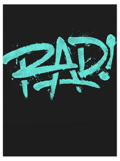 Typeverything.com Rad! by 55 Hi #rad #type #lettering #typography