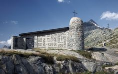 chapel #grimsel #sun #sky #chapel #switzerland #pass #blue