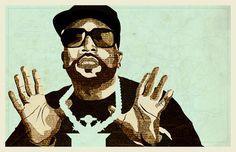 Big Boi | Illustration | KyleMosher.com #fineart #big #design #newspaper #boi #illustration #vintage #hip-hop #outkast