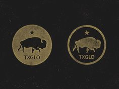 Social media icons for the Texas GLO #icon #texas #seal #vintage #star #logo #buffalo