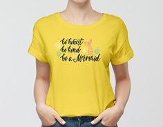 Free Girl Wearing T-Shirt Mockup