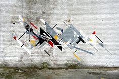 Graphic Surgery, De Stijl, Netherlands unurth   street art #de stijl #street art