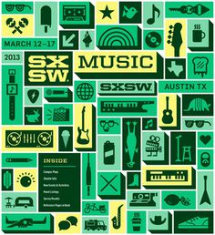SXSW2013_ProgramCover_Music_750 #illustration #typography #music