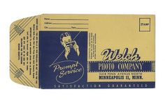 Welch photo processing envelope - Front | Flickr - Photo Sharing! #photography #envelope #vintage #film