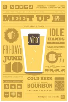 Ryan vs. Clark | Design & Illustration | Virb Meet-Up Poster #typography #poster #icons