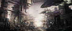 sci-fi city by ~ThibaultFischer #fi #city #sci