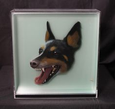 3D Paintings of Animals on Layers of Glass by Yosman Botero #3d #3D painting #animals #glass #yosman botero