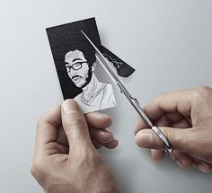 Comic Style Business Card #card #diy #scissors #business
