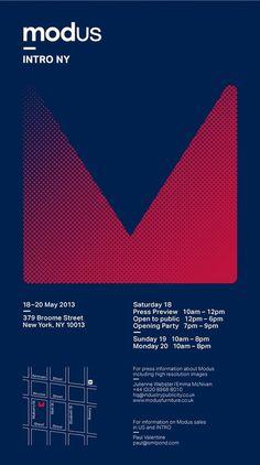 Intro NY Invite #graphic design #identity #poster #blue #geometry #invite