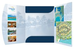Grand Isle Resort & Spa Presentation Folder (Inside View) #folders #presentation #spa #carribean #resort #folder