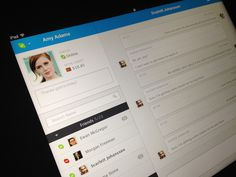 SKYPE UI on Behance #chat #ipad #ui #video #skype #ios #stream