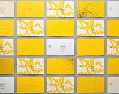 Ben Johnston #print #business card #yellow
