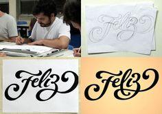 Alle Größen | Processo Feliz | Flickr - Fotosharing! #cursive #type #lettering