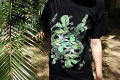 KFKS T-shirt Plants #palms #black #tropical #pattern #tshirt