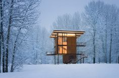 An Incredible Steel Cabin In The Middle Of Nowhere #architecture