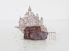 Craggy Chateau #illustration