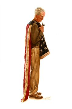 brianmichaelbendis:Norman Rockwell by Alex Ross #illustration #norman rockwell #alex ross