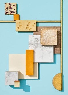 Cheese Wine Photoshoot - Mindsparkle Mag Paloma Rincón was commissioned by KaDeWe creative team to shoot a series of images and GIFs for KaDeWe Magazine and their new Cheese and Wine corners instore decoration in the food area. #logo #packaging #identity #branding #design #color #photography #graphic #design #gallery #blog #project #mindsparkle #mag #beautiful #portfolio #designer