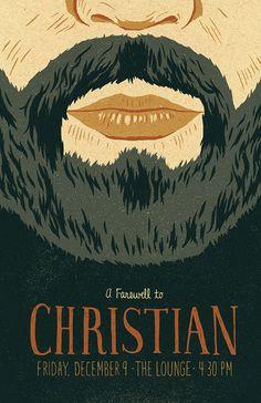 Christian Poster by Jacob Etter #beard #jacob #illustration #etter #poster #typography