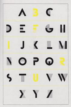 """""""Bifur"""" alphabet designed by A M Cassandre, Deberny et Peignot, Paris – 1929"""