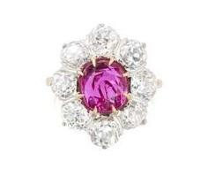 Burmarubin-Diamant-Ring