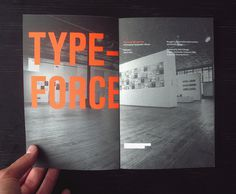 Typeforce Exhibition Catalogue #chicago #books #typography