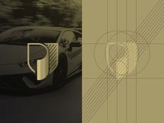Letter p shield