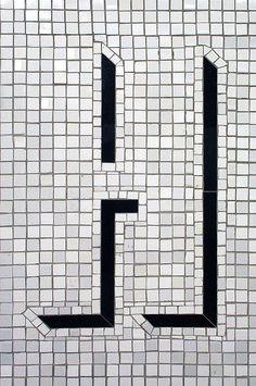 H #signage #sign #tile