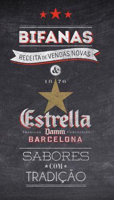Estrella Damm (various) #type #design #graphic #decoration