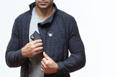 Captr Jacket is the world's best smartphone jacket! Live stream, charge your phone on-the-go